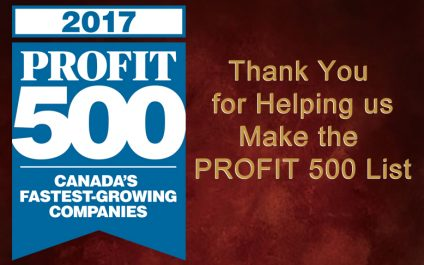 Thank You for Helping Us Make the 2017 PROFIT 500 List